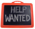 Help wanted sign Stock Photos