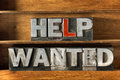 Help wanted tray Royalty Free Stock Photo