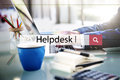 Helpdesk Assistance Advice Service Support Concept Royalty Free Stock Photo