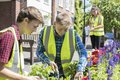 Group Of Helpful Teenagers Planting And Tidying Communal Flower Royalty Free Stock Photo