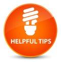 Helpful tips (bulb icon) elegant orange round button