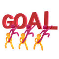 Helping friends reaching goal icon symbol Royalty Free Stock Photo