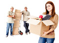 Helping with the move Royalty Free Stock Image