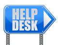 Helping road sign support desk Royalty Free Stock Images
