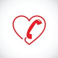 Helpline or phone sex abstract vector symbol icon Royalty Free Stock Photo