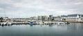 Helsingborg yacht harbor panorama Royalty Free Stock Photo