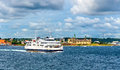 Helsingor - Helsingborg ferry and the Castle of Kronborg - Denmark Royalty Free Stock Photo