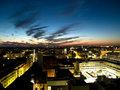 Helsini business downtown at night Royalty Free Stock Photo