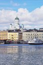 Helsinki the capital of finland seen from the sea Royalty Free Stock Photos