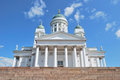 Helsinki cathedral finland very beautiful lutheran west facade Stock Photography