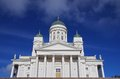 Helsinki cathedral finnish evangelical lutheran a famous sight in finland Royalty Free Stock Image