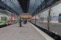Helsinki finland january railway station of the city of he in communication is very Stock Images