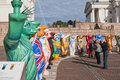 HELSINKI, FINLAND - United Buddy Bears exhibition Royalty Free Stock Photography