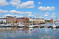 Helsinki. North Harbour Royalty Free Stock Photography