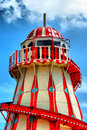 Helter skelter ride at a fun fair Royalty Free Stock Photos