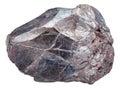 Hematite rock iron ore, haematite isolated