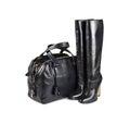 Hembra negra bag&boots-1 Fotografía de archivo