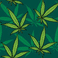 Hemp seamless pattern hand drawn no transparency and gradients used Royalty Free Stock Photography