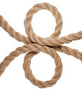The hempen rope. Isolated Royalty Free Stock Photo