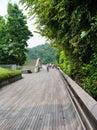 Henderson waves est le plus haut pont piétonnier à singapour Images stock