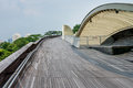 Henderson waves is the highest pedestrian bridge in singapore aug it was built to connect two hills of mount faber Royalty Free Stock Photo