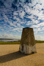 Hengistbury trig point on warren hill head christchurch dorset england united kingdom Royalty Free Stock Images
