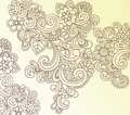 Henna Abstract Paisley Flower Doodle Vector