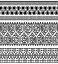 Henna borders indian art inspired Royalty Free Stock Image