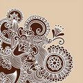 Henna Doodle Vector Illustration Royalty Free Stock Photography