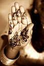 Henna Hand Royalty Free Stock Photography