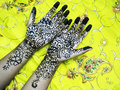 Henna hands Royalty Free Stock Photo