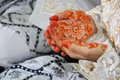 Henna on hands Photographie stock