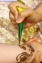 Henna has been used to adorn young women s bodies as part of social and holiday celebrations Stock Photos
