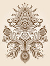 Henna Lace Paisley Flower Vector