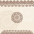 Henna Mehndi Paisley Doodle Vector Design Royalty Free Stock Photography