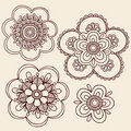 Henna Mehndi Paisley Flower Doodle Design Stock Photos