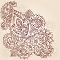 Henna Mehndi Paisley Tattoo Doodle Design Royalty Free Stock Photo