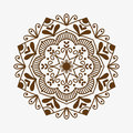 Henna tattoo brown mehndi flower template doodle ornamental lace decorative element and indian design pattern paisley Royalty Free Stock Photo