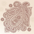 Henna Tattoo Flower Paisley Doodle Vector Design Royalty Free Stock Photography
