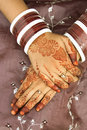 Henna tattoo on the hands Stock Image