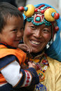 Henne tibetan le son för lady Fotografering för Bildbyråer