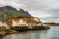 Henningsvaer, fishing village in the Lofoten archipelago, Norwa