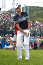 Henrik Stenson Chipping the Ball - NGC2009 Stock Photos
