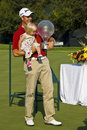 Henrik Stenson & Daughter 02 - NGC2008 Stock Images