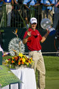 Henrik Stenson with Trophy & Sword - NGC2008 Royalty Free Stock Images