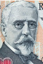 Henryk Sienkiewicz portrait from old five hundred thousand zloty Royalty Free Stock Photo