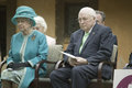 Her Majesty Queen Elizabeth II and Dick Cheney Stock Photos
