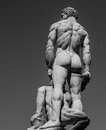 Heracles and cacus back by baccio bandinelli located on piazza signoria in florence Stock Photo