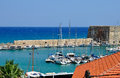 Heraklion fort sea coast on crit island Royalty Free Stock Photos