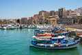 Heraklion harbour. Crete, Greece Royalty Free Stock Image